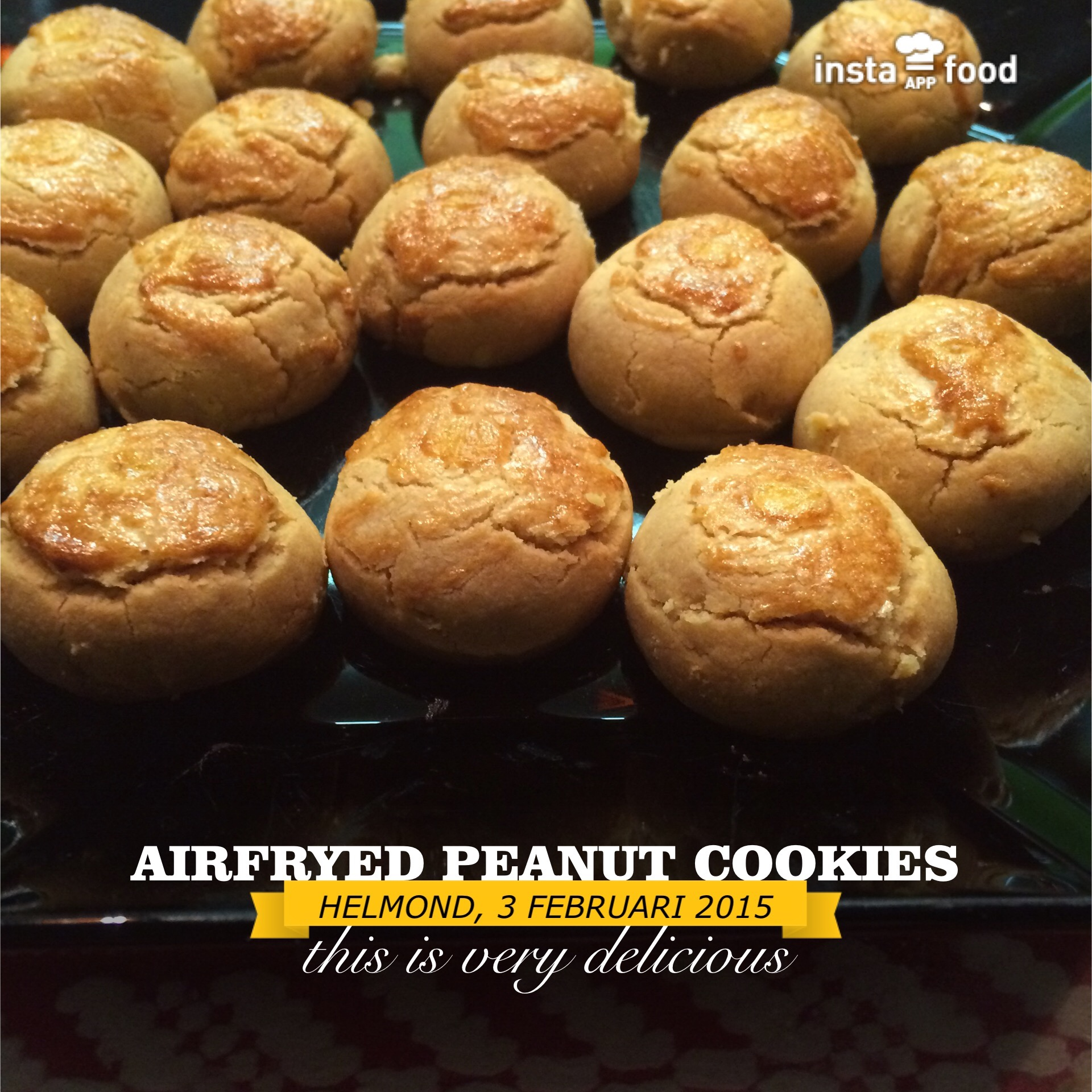 Airfried Peanut cookies